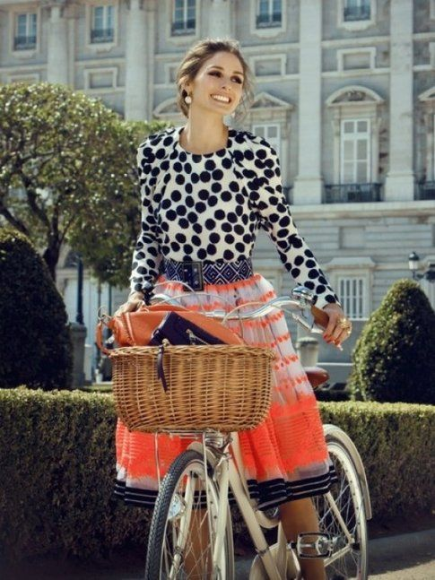 Mix & Match Righe e Pois street style Olivia Palermo