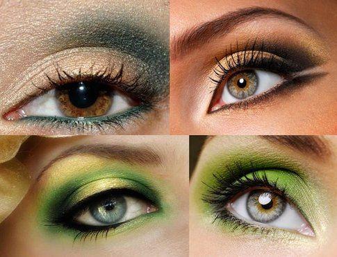 Ispirazione trucco verde/oro occhi - blog.cliomakeup.com