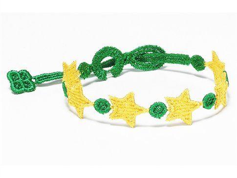 Braccialetto Cruciani Estrela do Brasil verde e giallo