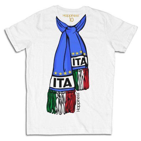 TShirt Happiness con sciarpa dell'Italia