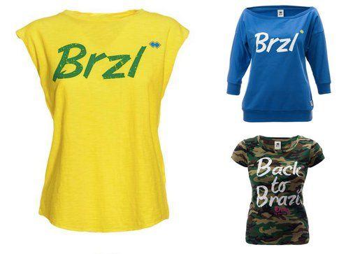 T-shirt e Felpe della linea Erreà Republic con i colori della bandiera brasiliana e italiana