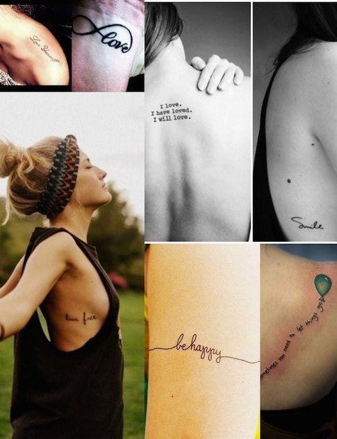 Tatuaggi Piccoli - Frasi