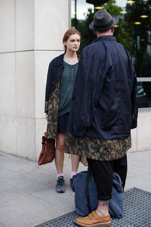 Maxi coat unisex per lui e per lei - Foto: The sartorialist