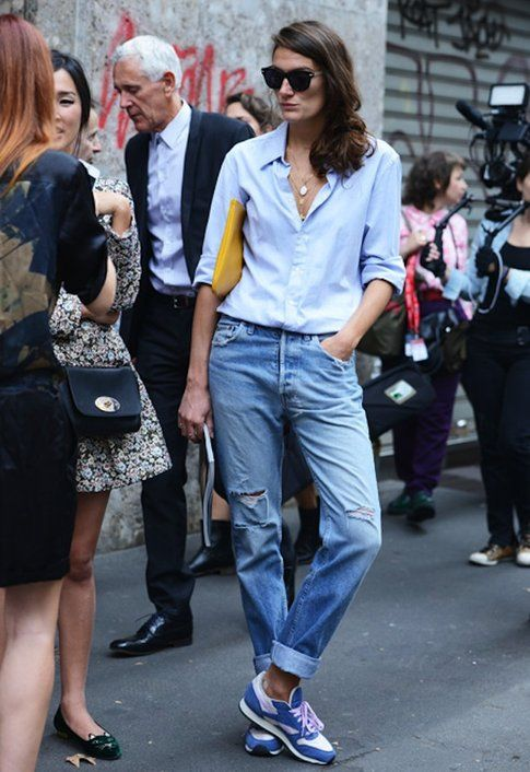Il jeans boy-friend - Foto: The sartorialist