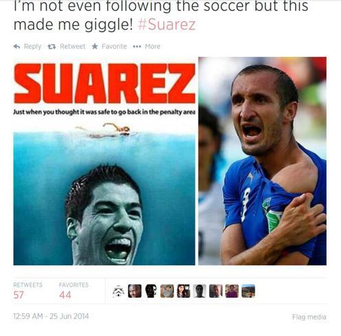 Italia-Uruguay: le parodie sul morso di Suarez