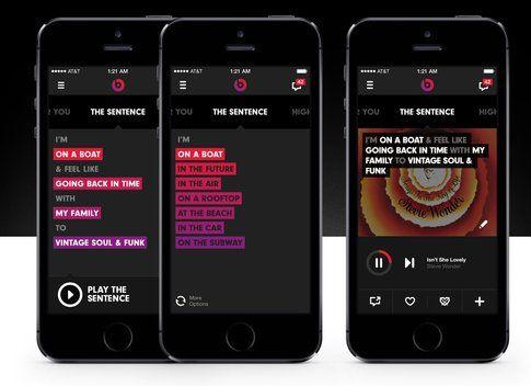 Design decisamente accattivante per Beats Music