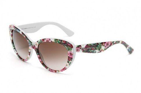 Occhiali da sole fantasia floreale mosaico Dolce & Gabbana (limited edition)