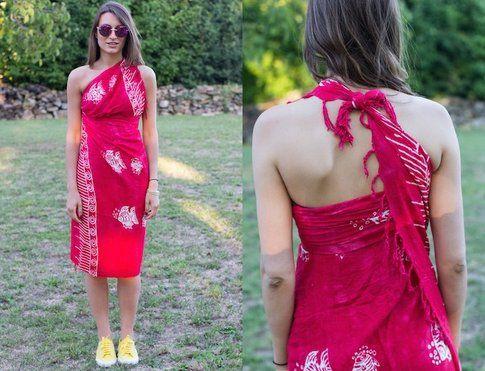 Come trasformare un pareo in un mini abito  - In Foto Carlotta del blog www.s