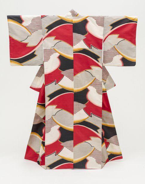 Kimono da donna con motivo astratto. 1950 Photo ©2014 Museum Associates/LACMA