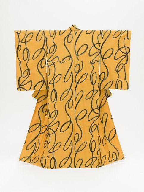 Kimono da donna con linee verticali ondulate. 1950 Photo ©2014 Museum Associates/LACMA