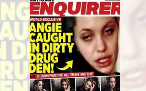 Angelina Jolie: compare online un suo video mentre si drogava