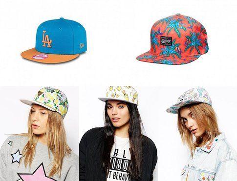 Cappelli stile Hip Hop- fonte : asos.com , Billabong e Newera