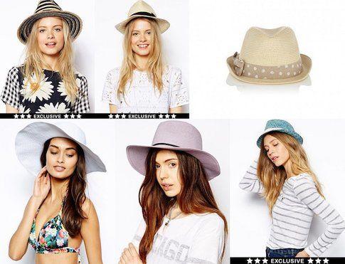 Cappelli in Paglia- fonte : asos.com  e Oasis