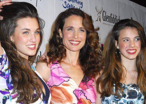 Andie MacDowell e le figlie Margaret e Rainey