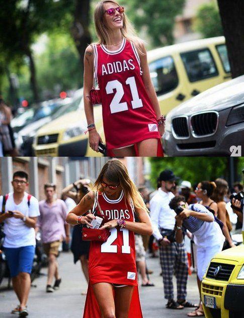 Carlotta Oddi con Canotta Adidas - fonte : le-21eme.com