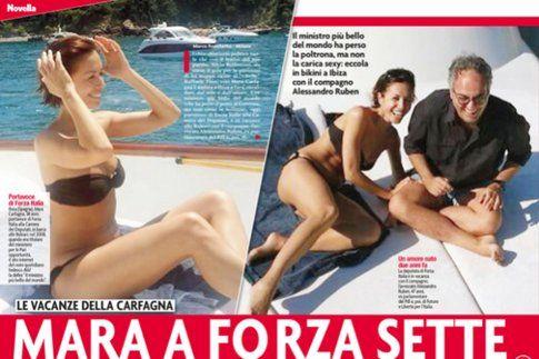 Carfagna e Ruben a Ibiza - Foto Novella 2000