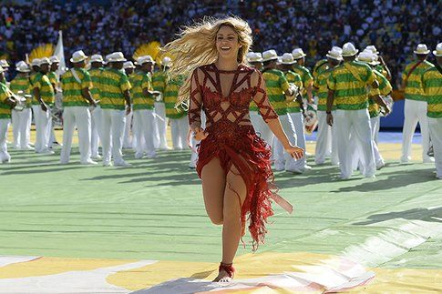 Shakira alla cerimonia dei mondiali