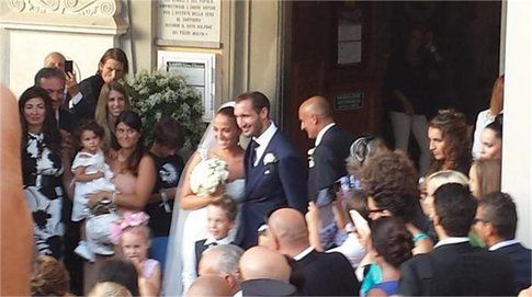 Giorgio Chiellini e Carolina Bonistalli sposi