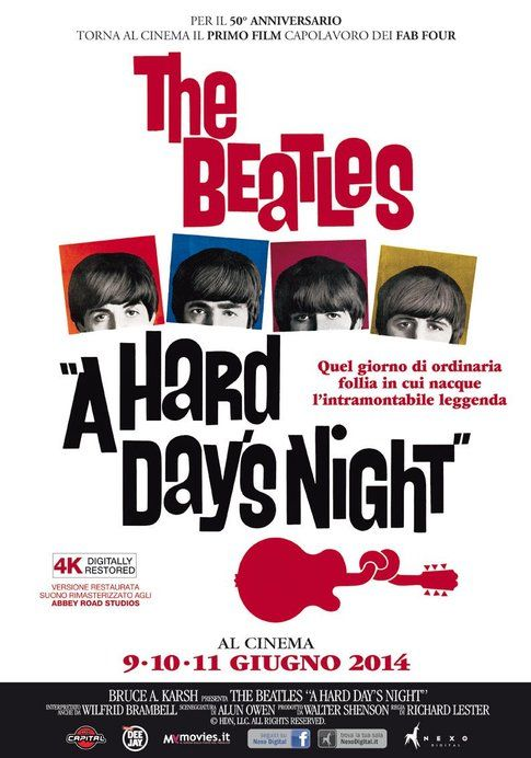 "Locandina di ""A hard day's night"" - foto Movieplayer.it"