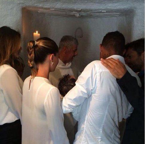 Il battesimo del piccolo Maddox
