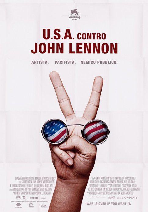 """Locandina di """"Usa contro John Lennon"""" - foto Movieplayer.it"""