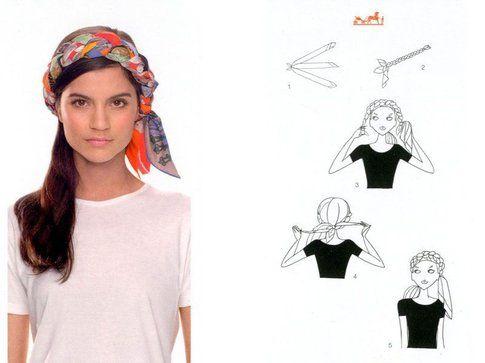 Turbante Bandana Intrecciata - Fonte: app Silk Knots di Hèrmes