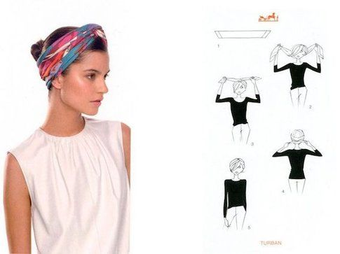 Turbante - Fonte: app Silk Knots di Hèrmes