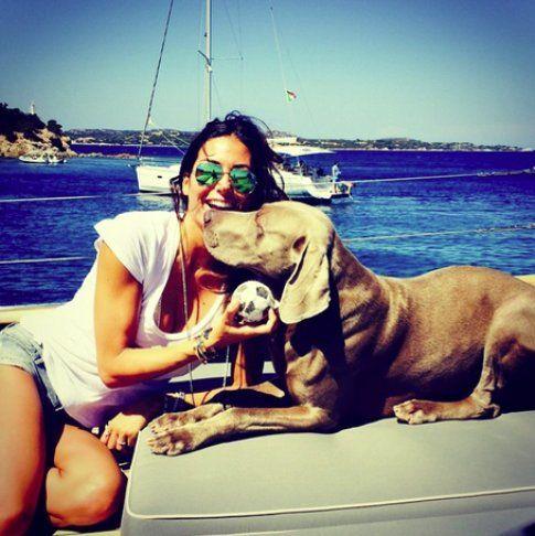 Elisabetta Gregoraci con il suo cane Ulisse