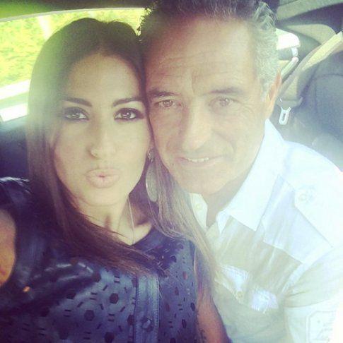 Elisabetta ed il suo amato papà in un selfie