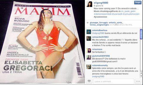 Elisabetta Gregoraci nella copertina di MAXIM