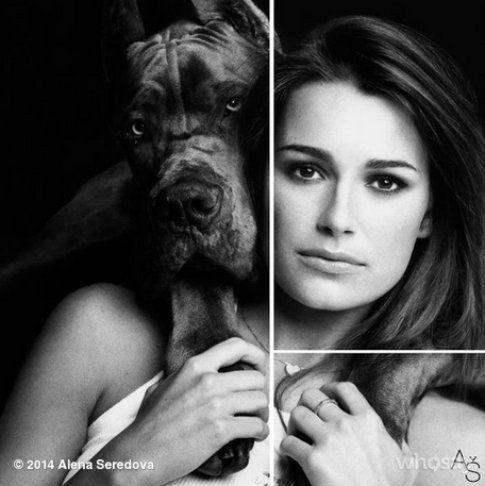Alena Seredova con il suo amato cane