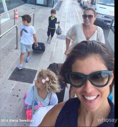 Alena Seredova in vacanza in Salento