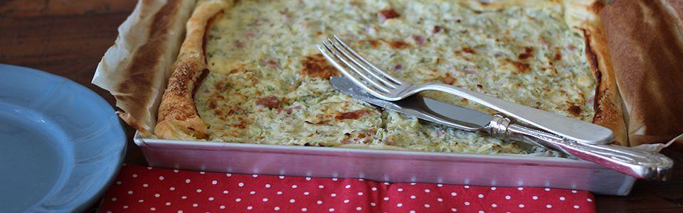 La torta salata alle zucchine senza uova