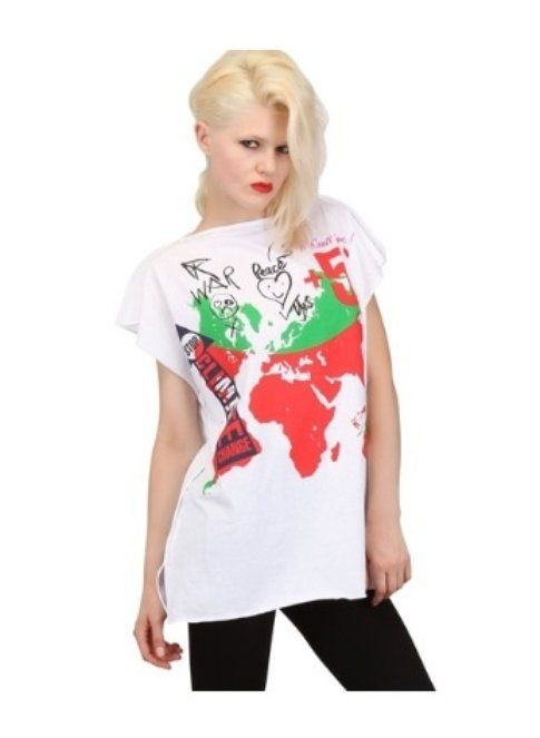 T-shirt Vivienne Westwood con messaggio a sfondo ambientale