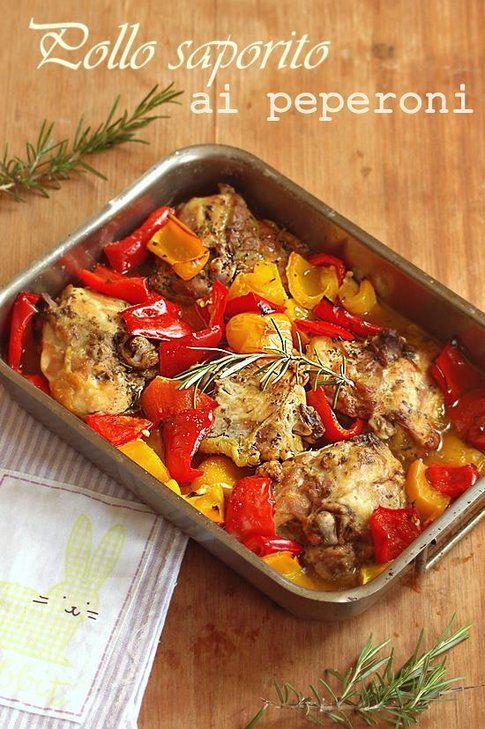 Pollo saporito ai peperoni. Ricetta e foto del blog Mamma papera's blog.