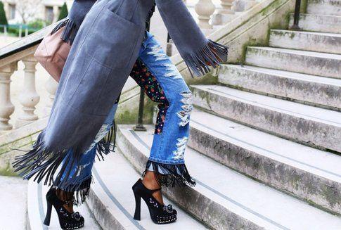 Jeans  con frange