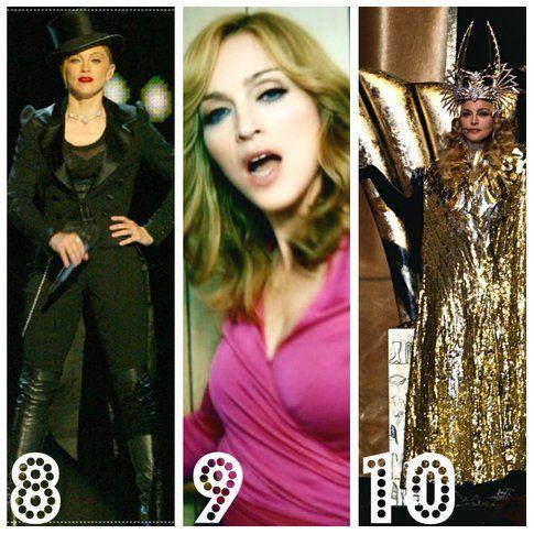 Madonna: 10 stili di un'icona - 8. Il gentleman  9. La disco girl 10. La dea
