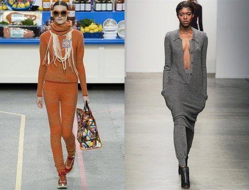 Total look in maglieria stretta ed avvolgente (Chanel e A Detacher)-  Fonte: Indigitalimages.com