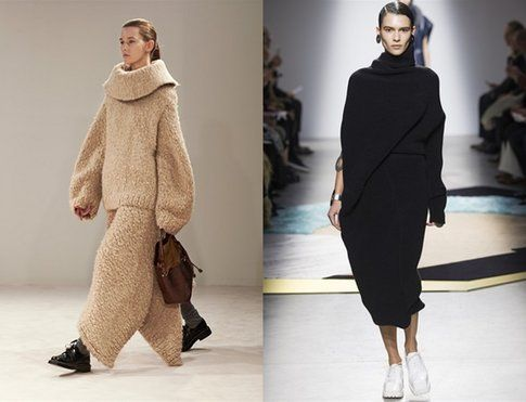 Due proposte opposte, una oversize (The Row) e una molto più low profile (Acne Studio)- Fonte: Indigitalimages.com