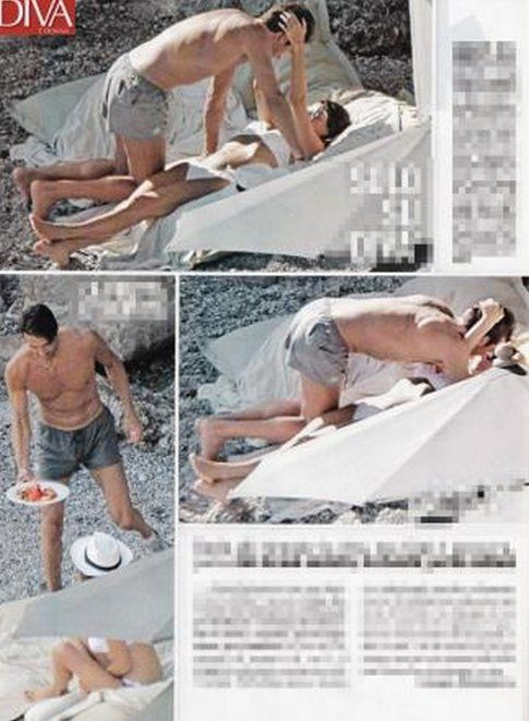 Gigi Buffon e Ilaria D'amico - foto Diva e Donna