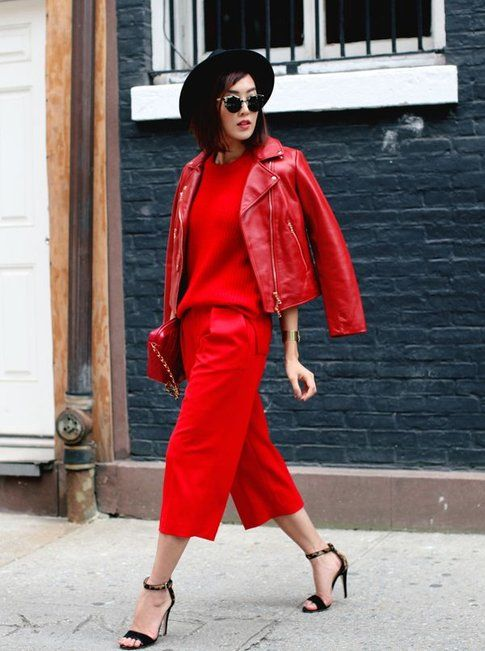 Total Look rosso - ph streetstyle vogue