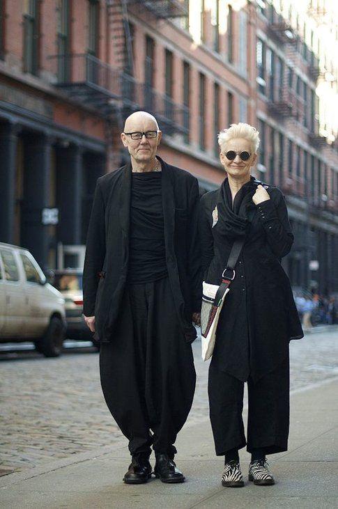 Coppia di Fashion Victim over 60 a New York - fonte: an-unknown-quantity.blogspot.ca