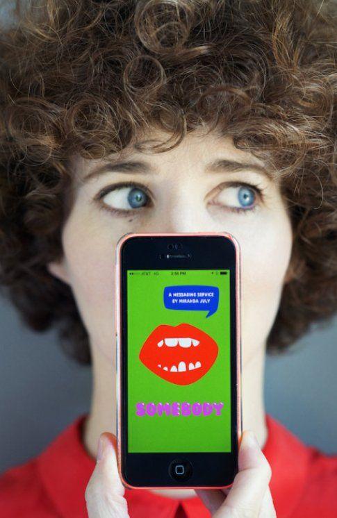 """somebody"" la app di Miranda July per iphone"