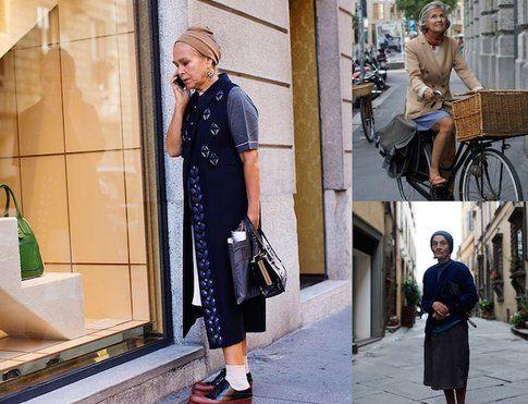 """""""Milanese Style"""", donne italiane fotografate nel quadrilatero della moda milanese: fonte: thesartorialist.com"""