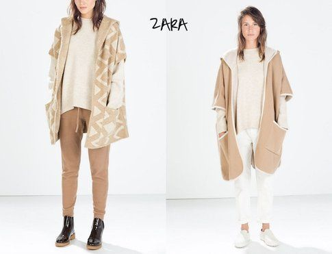 Cappe e Mantelle proposte da Zara per la collezione Autunno/Inverno