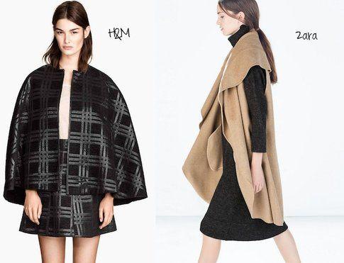 Cappa di H&M e di Zara