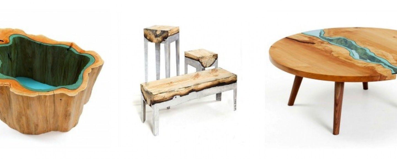 Mobili in legno naturale, vetro e acciaio  Bigodino