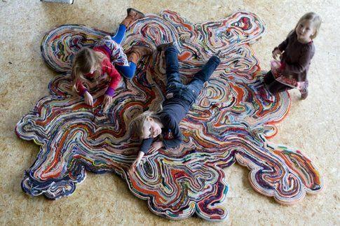 Tejo Remy e René Veenhuizen accidental carpet. Photo Adriaan van Dam