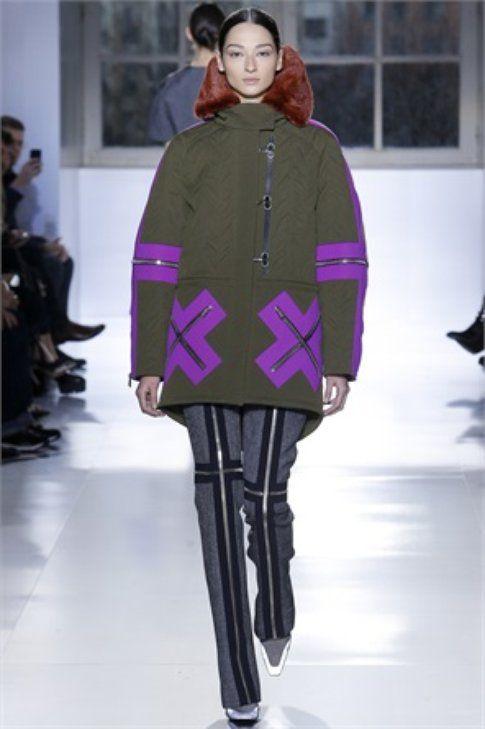 Zip decorative per giacca e pantalone Balenciaga FW 2015