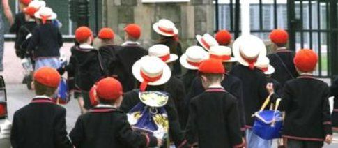 bambini di una scuola privata